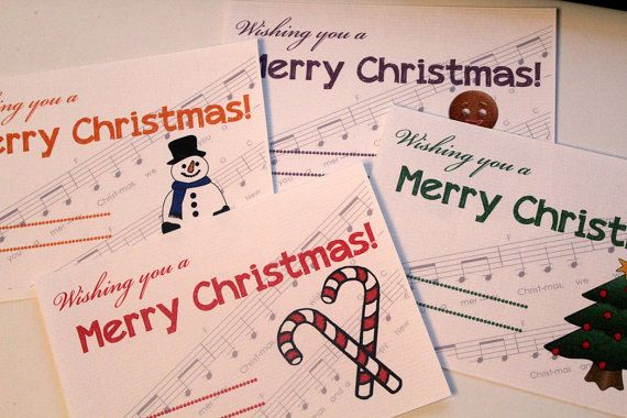 Christmas Cards  set of 4 printables. by ezontho on Etsy, €2.00