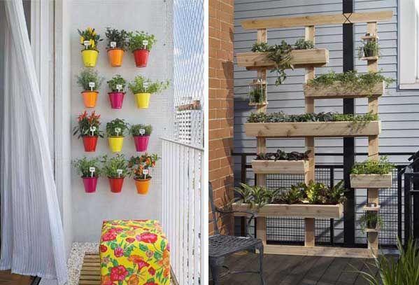 35 best balcon images on pinterest garden deco pallet for Jardines verticales pequenos