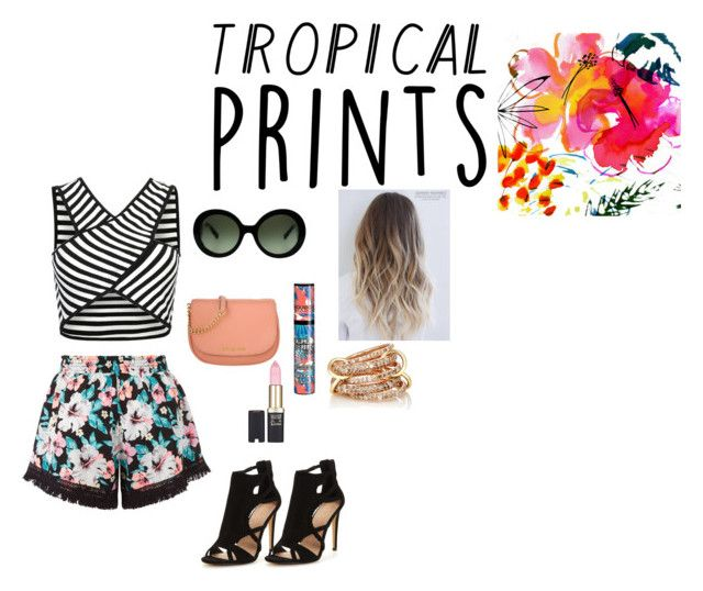 """Tropical Prints!"" by shanaya-mohd ❤ liked on Polyvore featuring New Look, Prada, Michael Kors, Bourjois, L'Oréal Paris and SPINELLI KILCOLLIN"