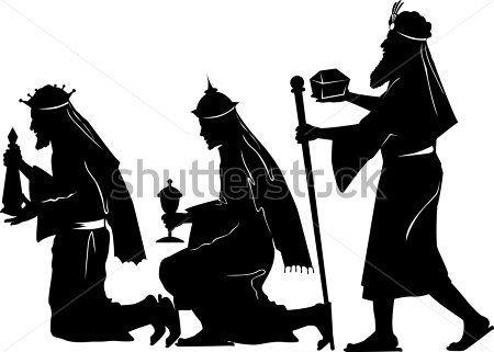 Vetor Silhueta Gráfica Ilustração Retratando Os Três Homens Sábios, Oferecendo Presentes clip arts - ClipartLogo.com