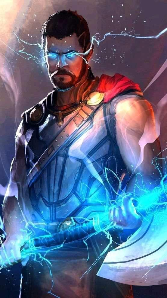 Avengers Thor Weapon Stormbreaker Wallpaper Phone Wallpapers