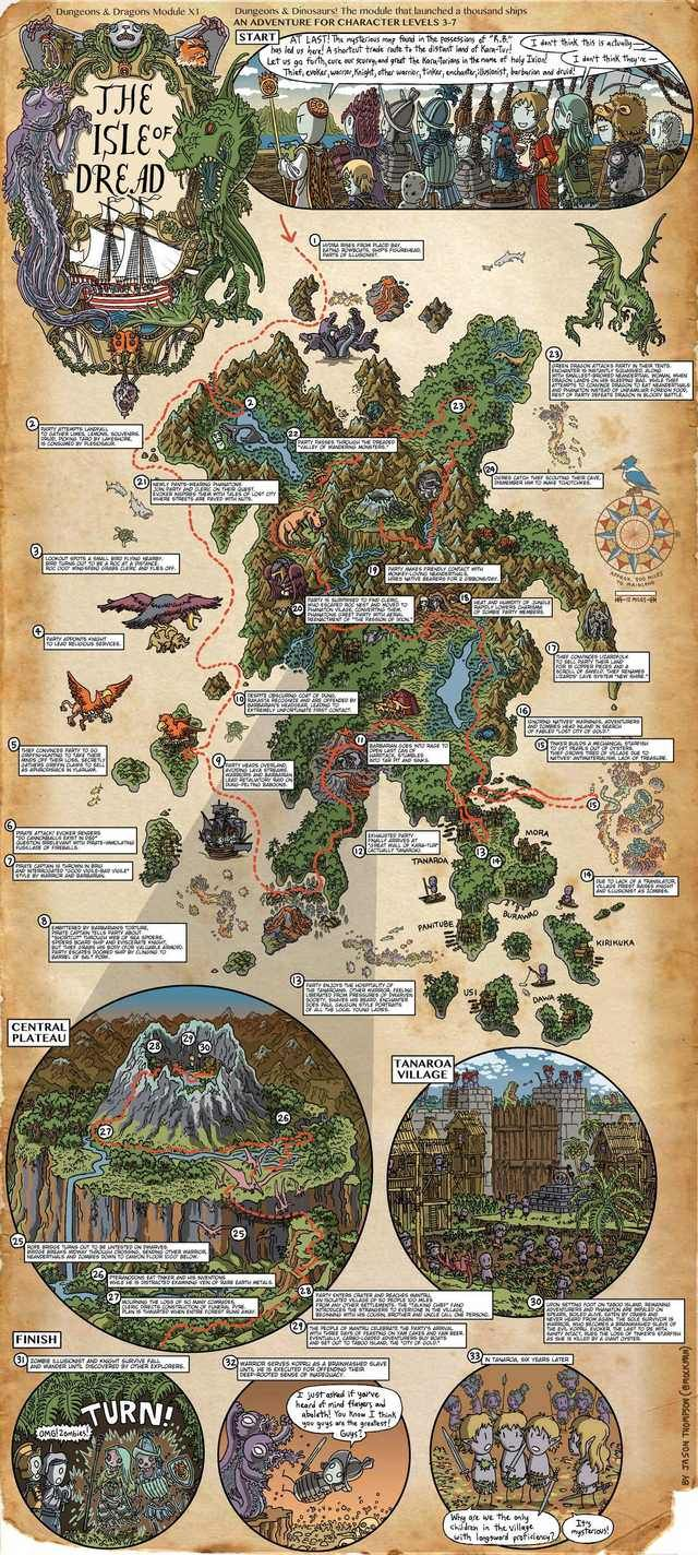 Classic D D Walkthrough Maps Carte Imaginaire Paysage Cartographie