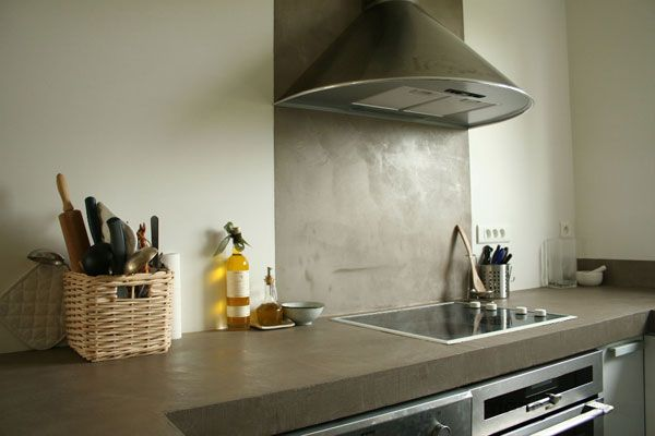 35 best images about plan de travail on pinterest stove grey and petite cu - Beton cire plan de travail ...