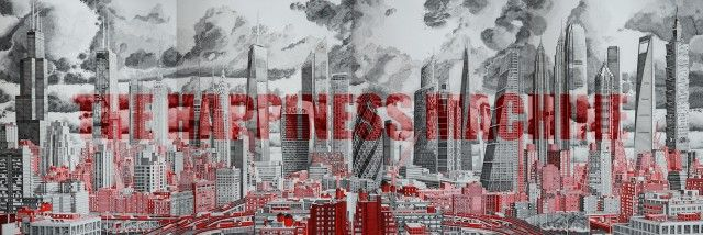 The Happiness Machine by Mark Lascelles Thornton - Illustration und Artwork - Punkte, Linien - Rotring FineLiner - Skyline, Architektur