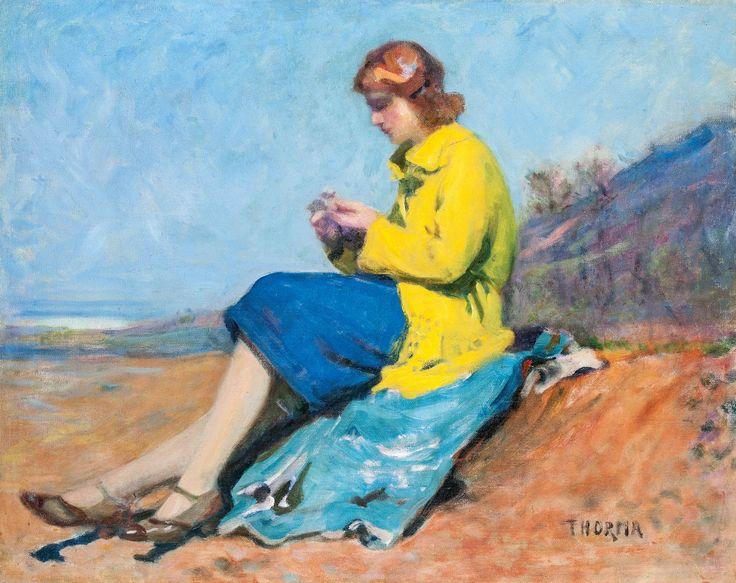 Aukció: 2015. december 16.: Thorma János; Felesége portréja; olaj, vászon