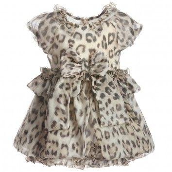 Finally Roberto Cavalli Baby Girl Leopard Print Dresses