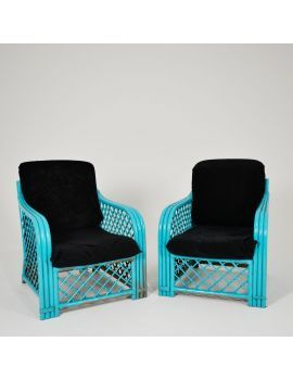 turquoise cane chairs look great in miami theme events