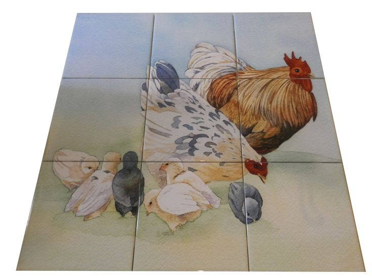 63 Best Roosters Hens Amp Farm Yard Tile Murals Images On