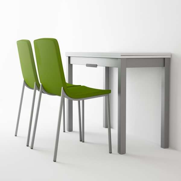 Table Petit Espace Extensible En Verre Domino In 2020 Dining