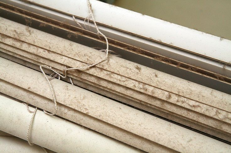 How to clean window blinds easily without having to wipe down each slat.