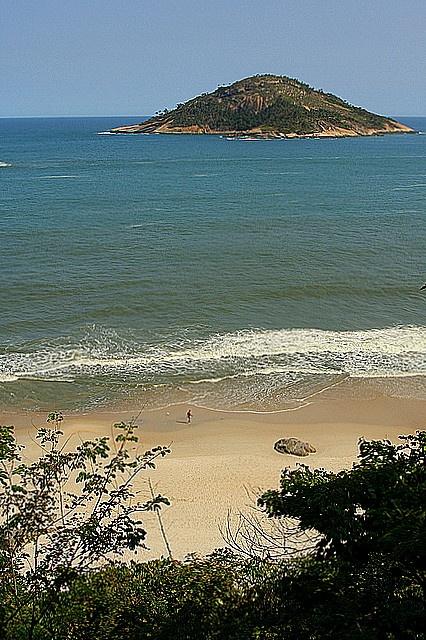 Abricó beach - the only nudist beach in Rio de Janeiro, in the Grumari nature reserve. Photo by acmaximo, via Flickr