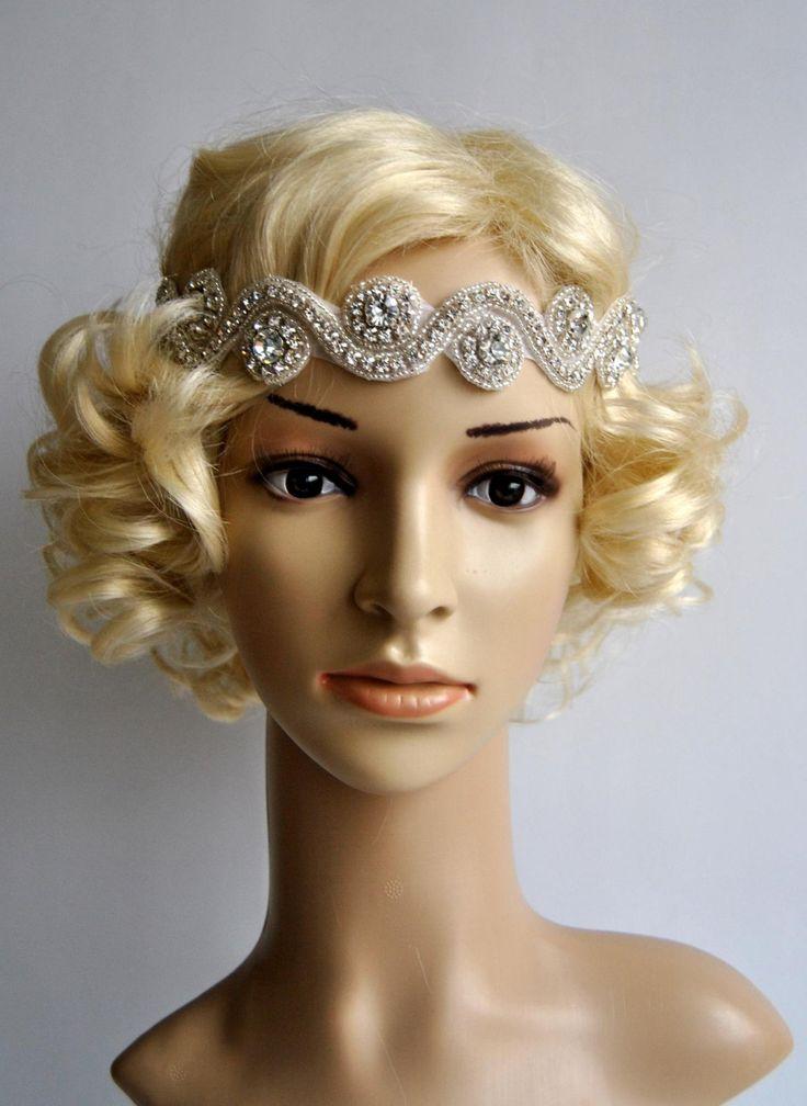 Wedding Headband Rhinestone Crystal Bridal Headpiece 1920s