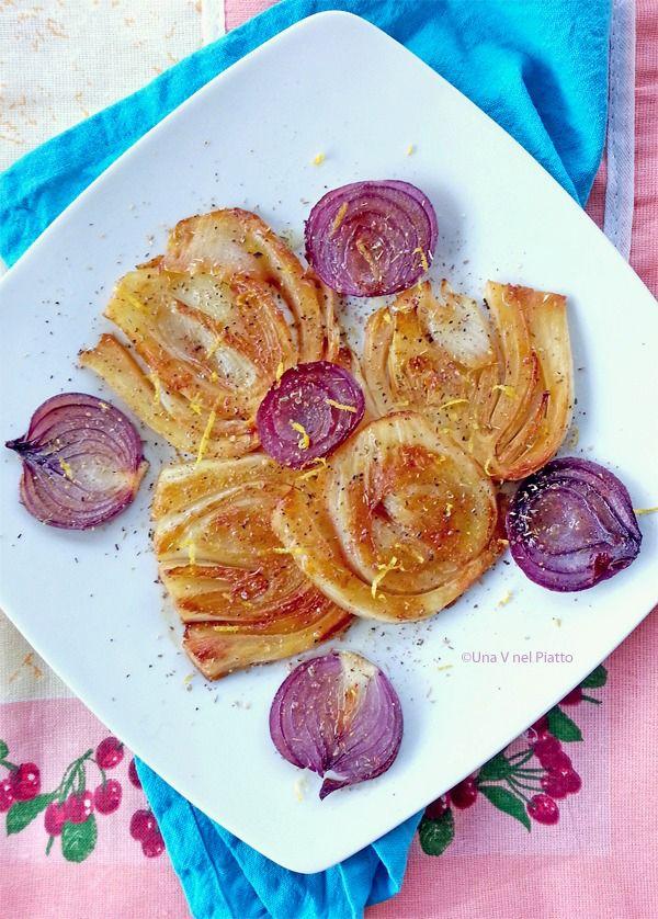 Finocchi e cipolle rosse agli agrumi e balsamico on http://www.unavnelpiatto.it