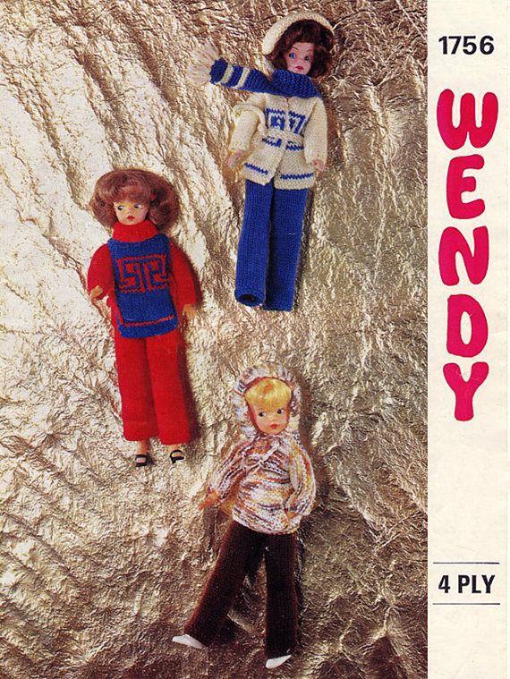 PDF Vintage Sindy Barbie Doll Clothes Knitting Pattern Wendy