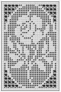 filet crochet free pattern -- It's a crochet pattern, but I think it would look pretty in cross stitch.