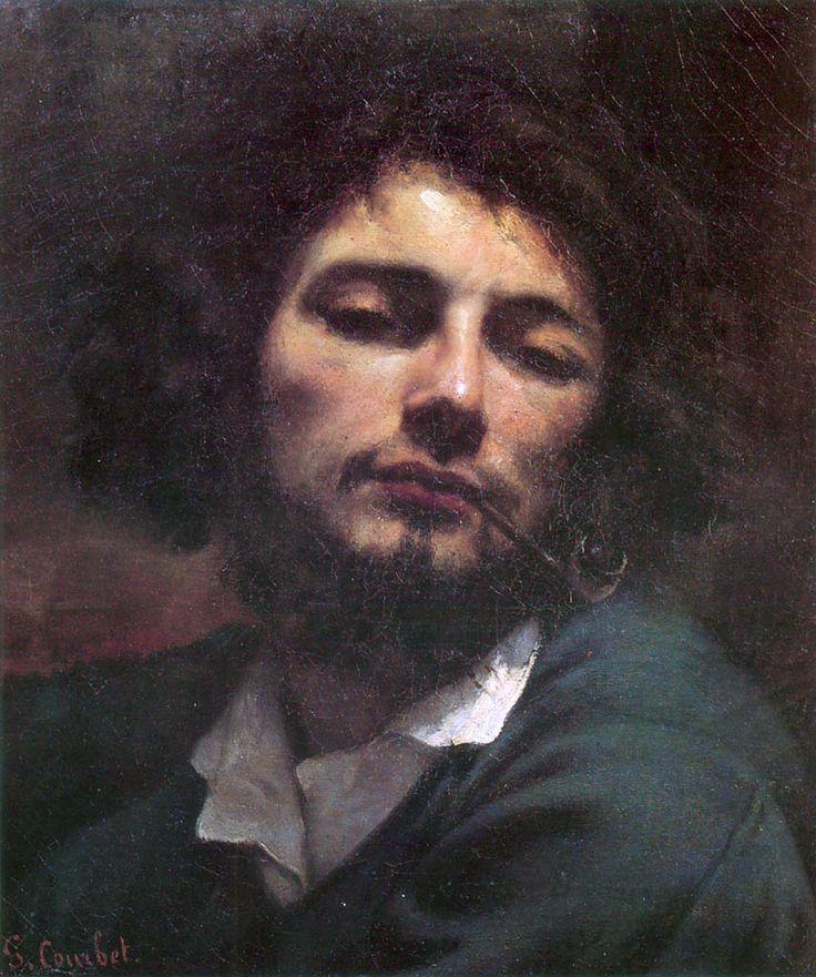 """Gustave Courbet - Autoportrait (L'homme à la pipe), 1849  """"Considerhim as the first Hippie."""""""