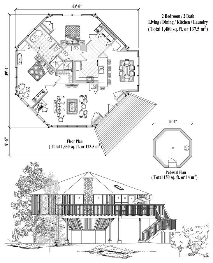 10 best Octagional house plans images on Pinterest Floor plans