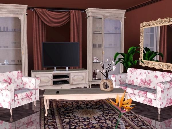 A Classical Italian Style Living Room With High Tech Accessories. Found In  TSR Category U0027Sims 3 Living Room Setsu0027