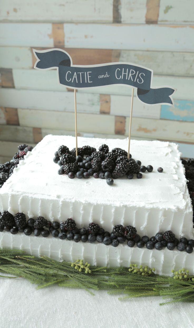 Berry Wedding Sheet Cake #DIY WeddingCakes. Get the recipe > http://wayfair.ly/RQJzGu