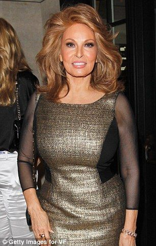 Raquel Welch is 71. She looks fantastic but I think she would look great without the 'work' too.