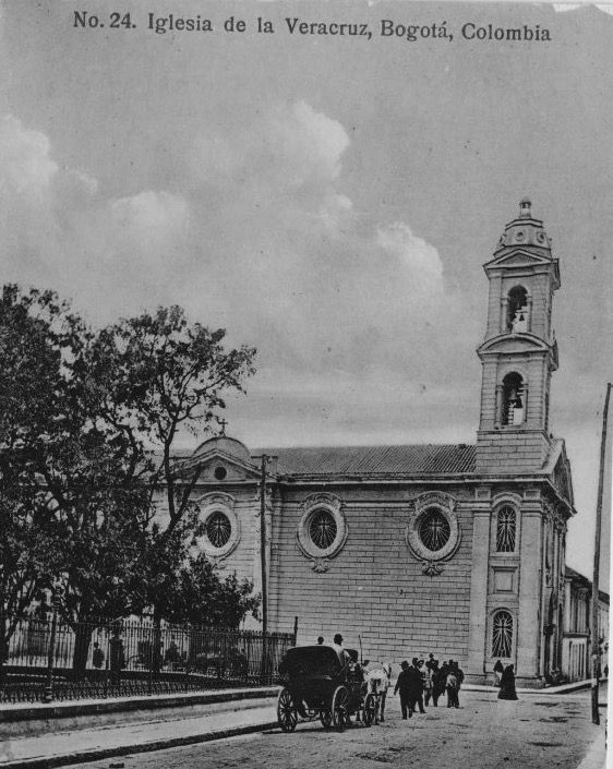 Iglesia de la Veracruz en Bogotá hacia 1920