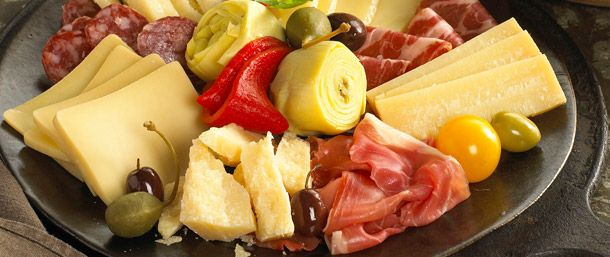 Simple yet sophisticated, this antipasto platter is easy to prepare and adds an elegant touch to any affair.