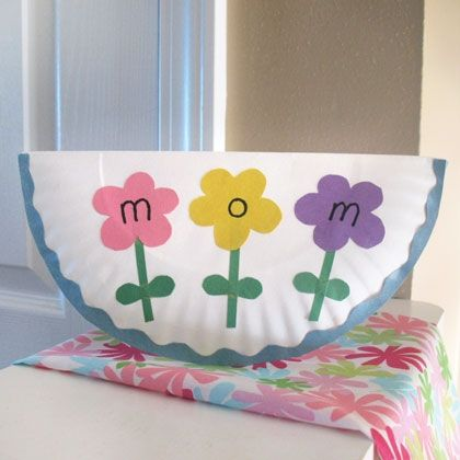 Paper Plate Mothers Day Card