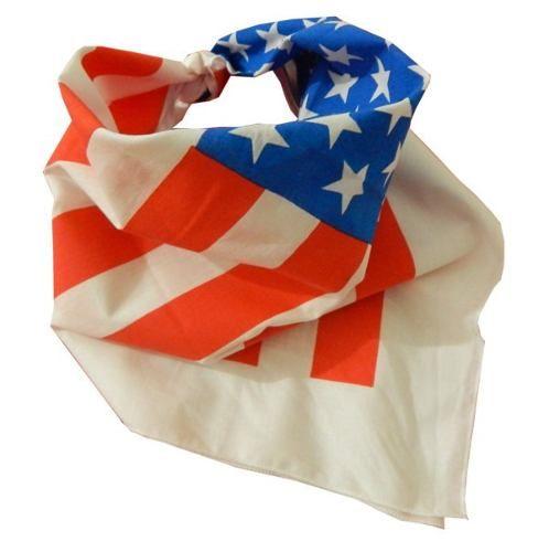 bandana lenço bandeira americana usa (eua)