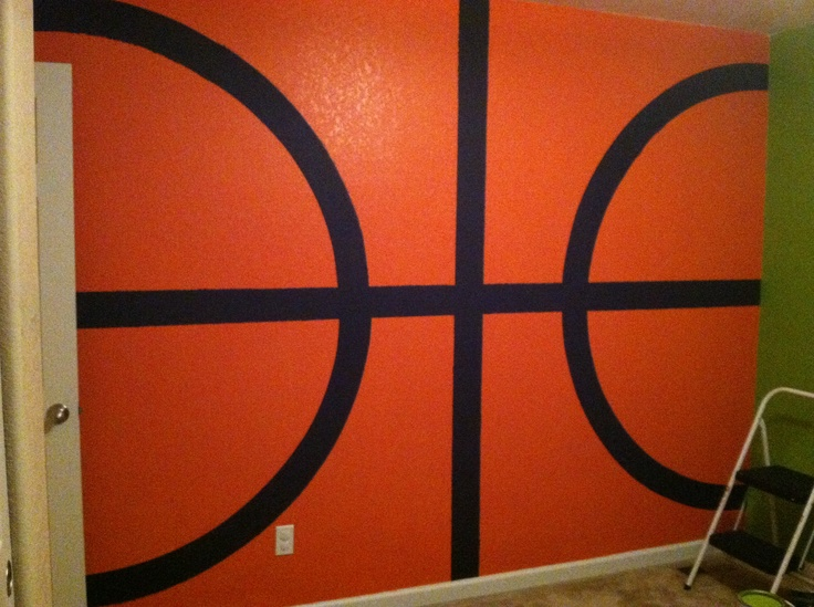 Basketball wall finished, tennis and football walls up next!
