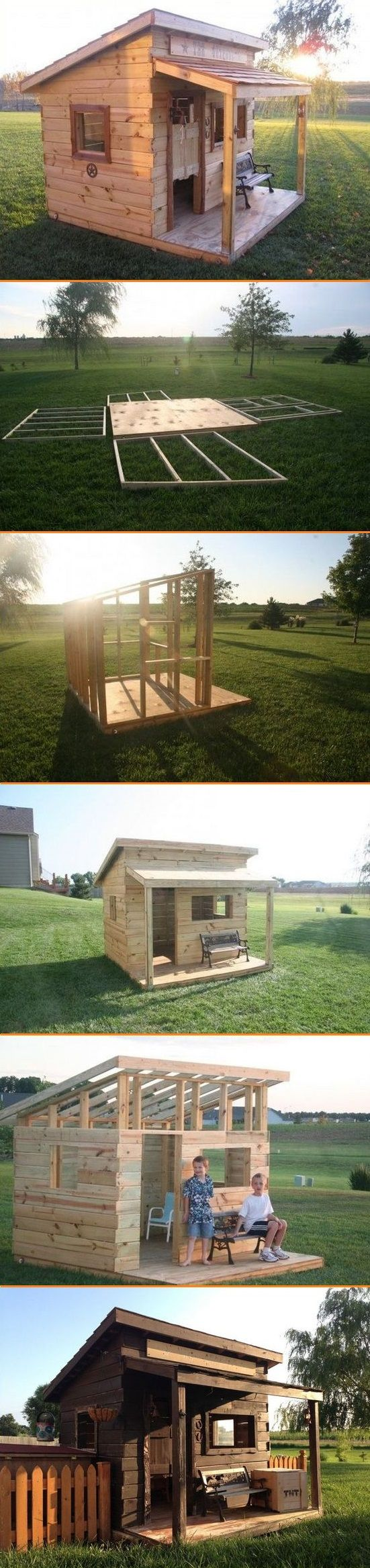 How to Build A Western Saloon Kid's Fort (Chicken Backyard)