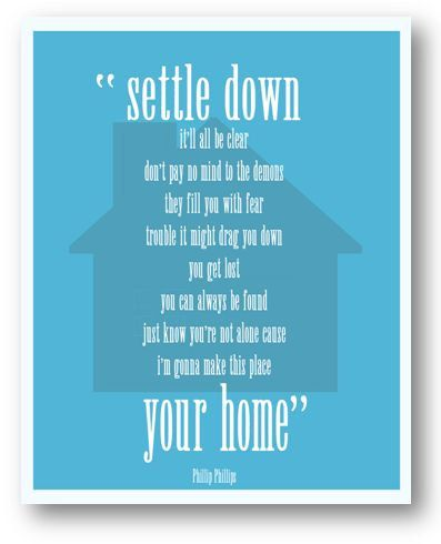 Home / Phllip Phillips / Lyric / DIGITAL Typography Poster / Printable - Etsy