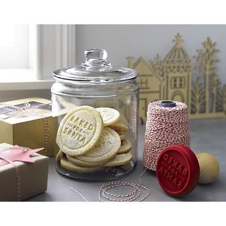 Baked for Santa Cookie Stamp   Crate and Barrel