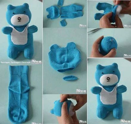 çoraptan bebek poppen maken van sokken