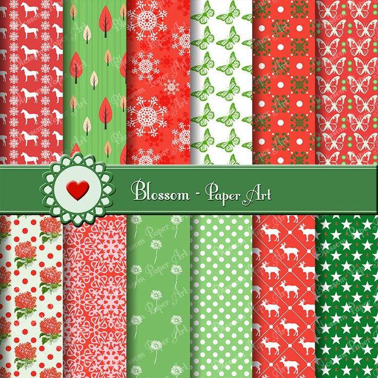 Christmas Digital Paper - Collage Sheet - Scrapbooking - Scrapbook - Printables - Clipart - Download - 1562