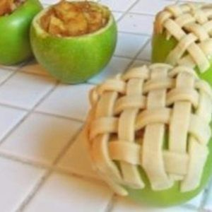 Apple Pie Baked In An Apple by trusted chef and home cook