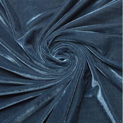 Tecido veludo molhado azul petróleo - Maximus Tecidos   Loja Online
