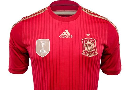 adidas Spain Home Jersey - World Cup 2014...Available At SoccerPro!