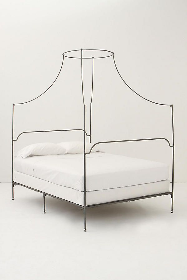 Slide View: 1: Italian Campaign Canopy Bed