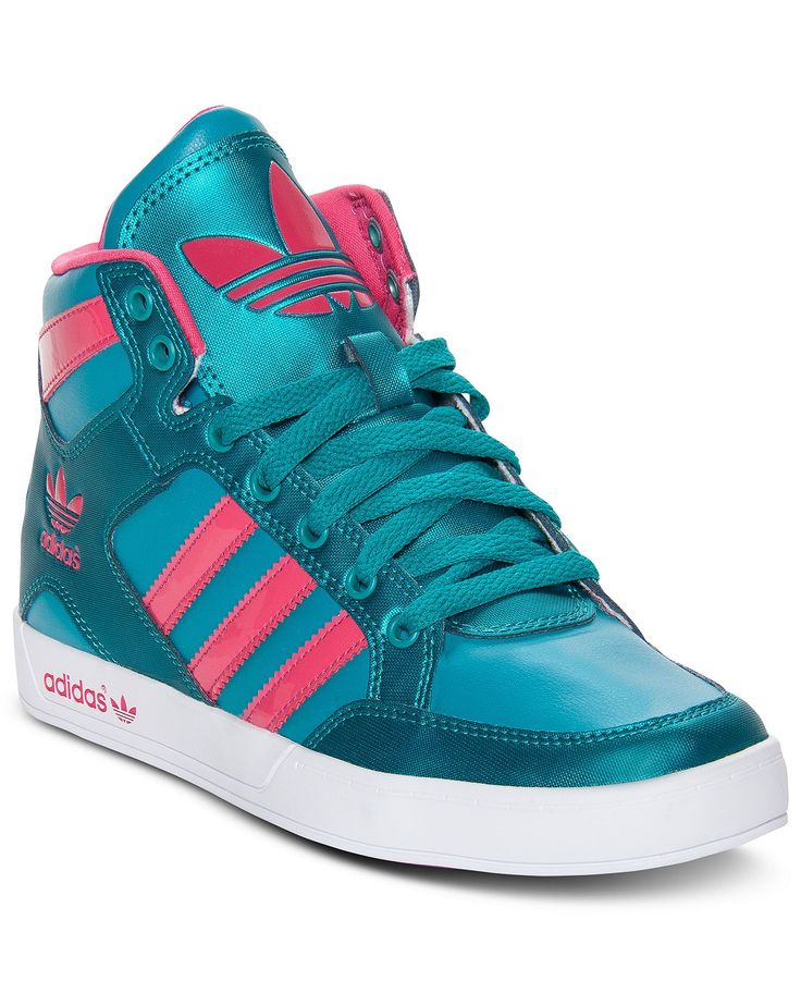 adidas Women\u0027s Shoes, Hardcourt High Top Casual Sneakers - Kids Finish Line  Athletic Shoes - Macy\u0027s - womens shoes online sale, womens volleyball shoes,  ...