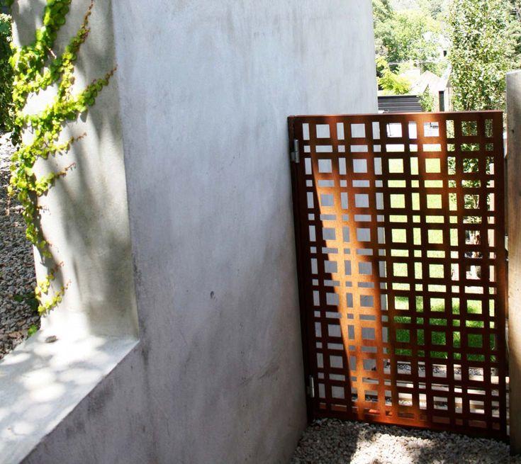 corten laser cut panel - lattice pattern (not organic shapes)