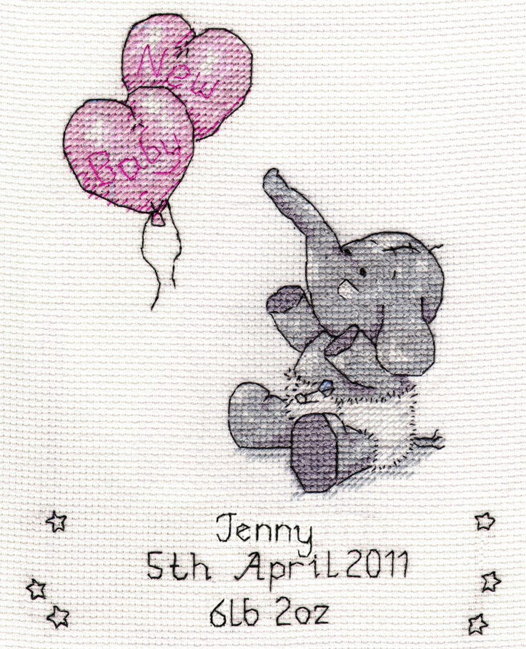Cross Stitch Birth Sampler