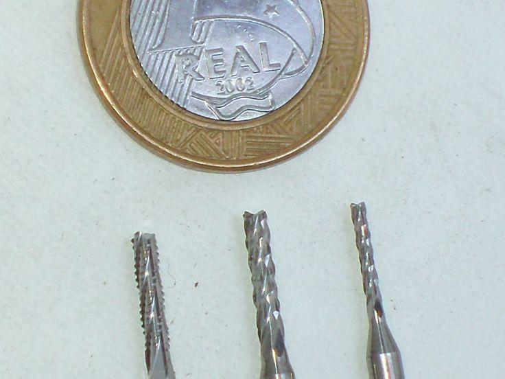 R$ 10,00  micro brocas fresa lima rotativa tungstênio dremel cnc