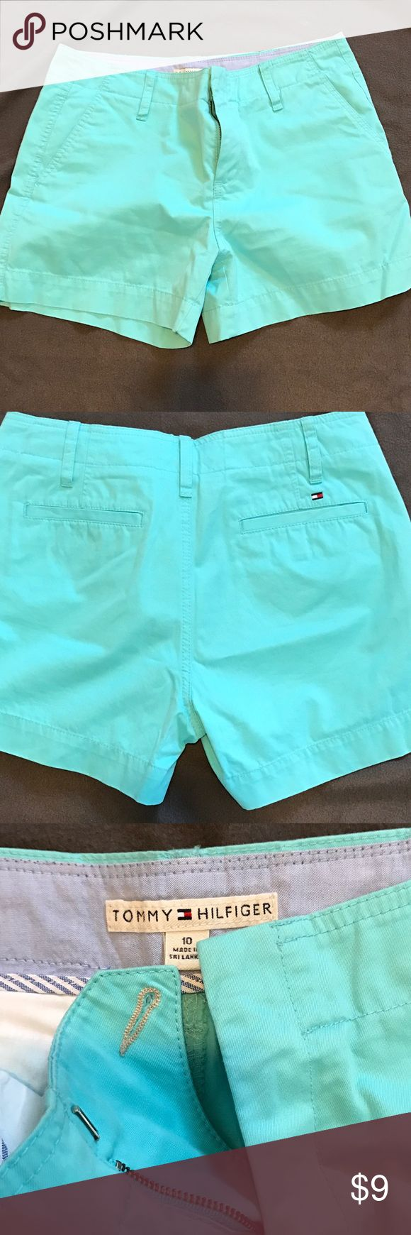Tommy Hilfiger shorts Aqua shorts with no spots or stains. Look brand new. Khaki material Tommy Hilfiger Shorts