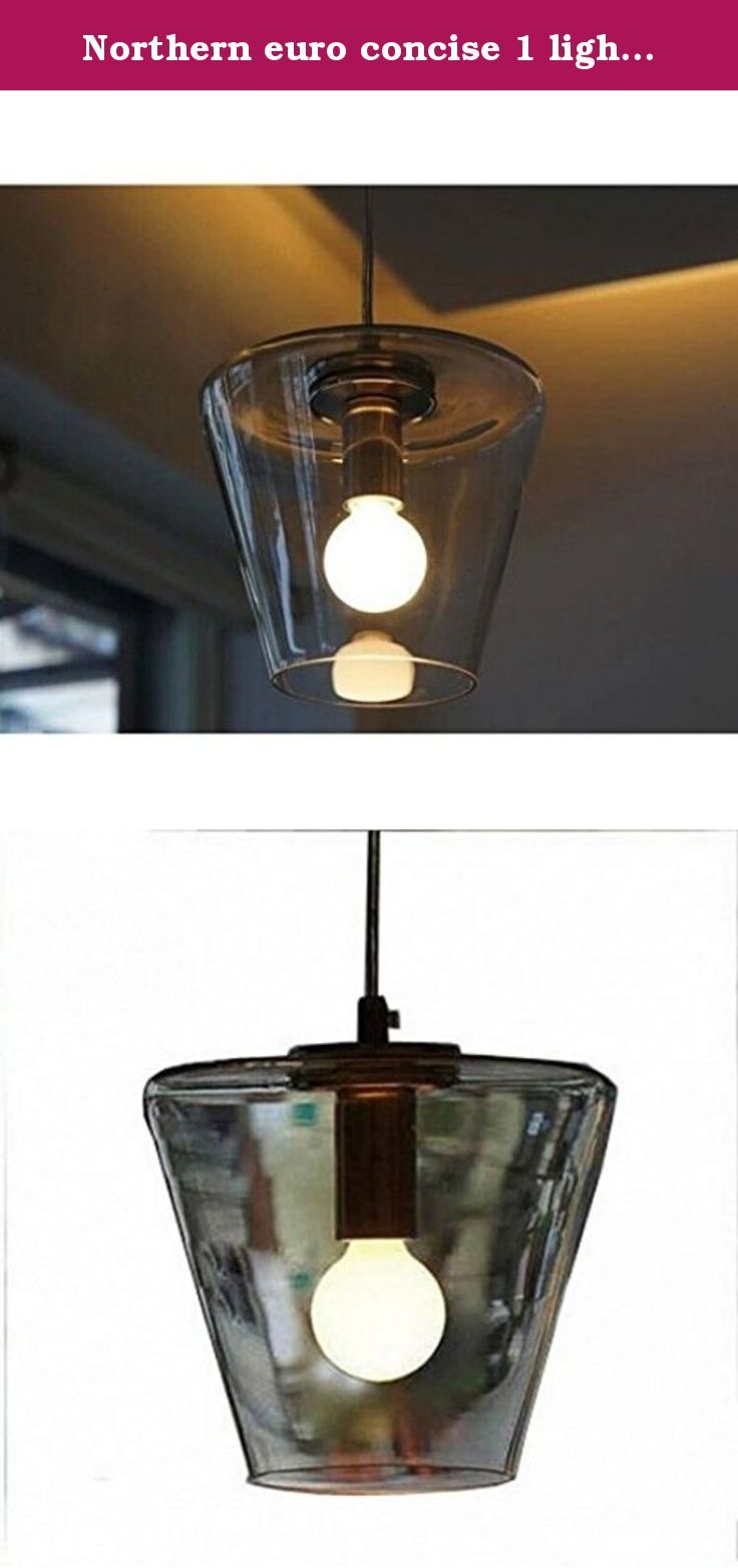 Northern euro concise 1 light cone modern glass pendant lamp light. Material:Glass Size:D175mm,H180mm Bulb Q'TY: 1 Pcs Wattage:40-60W Voltage: 90V-260V Light: Incandescent bulb Base: E26 / E27 Color :Clear.