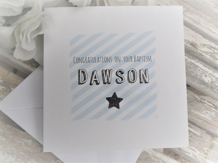 "Personalised ""Congratulations"" Card - Choose your own wording and name 14.5cm x 14.5cm £5.00  Free P&P within the U.K. or + £6.50 for worldwide P&P  To order: email hambleandpops@gmail.com"