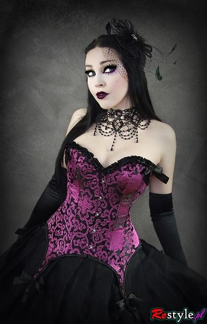 psychotic-cherie-fairy:  Fioletowy wiktoriański gorset 16 fiszbin   GORSETY   Overbust   Restyle.pl on We Heart It. http://weheartit.com/ent...