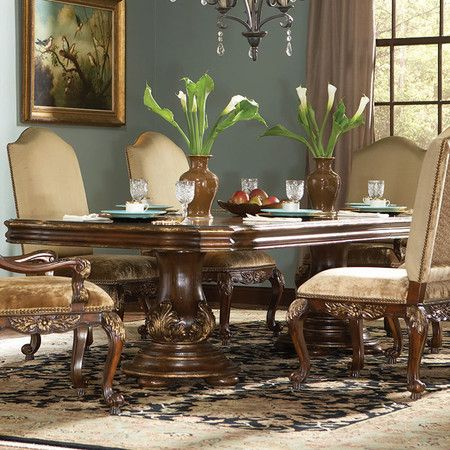 Add An Ornate Touch To Your Eat In Kitchen Or Dining Room With This  Eye Catching Table, Showcasing A Rectangular Silhouette And Glass Top.