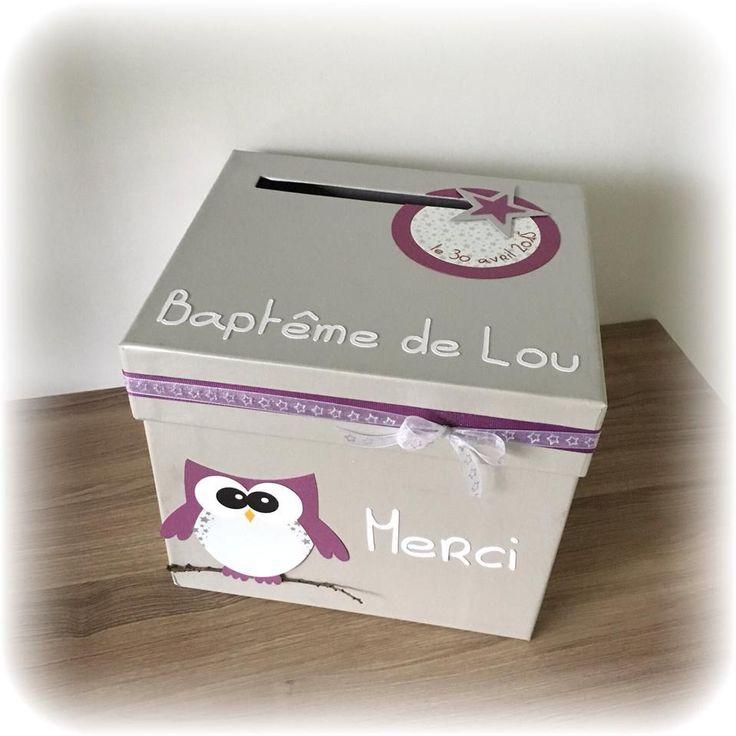 Urne - boite à enveloppes thème hibou étoiles à personnaliser : Autres papeterie…