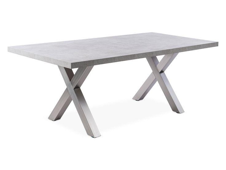 Purismus und Modernität zeichnen den Esstisch Gala aus. Das gradlinige und klare Design des Tisches setzt sich aus einer 50mm starken Platte mit Betondekor sowie einem Gestell aus gebürsteten Edelstahl zusammen.        Bei Fragen zum...