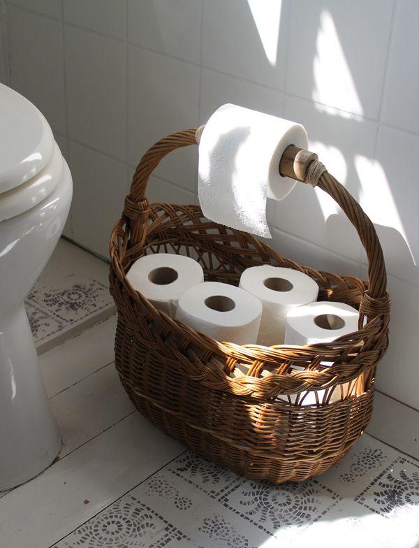 Fonott bevásárlókosárból stílusos vécépapírtartó - Kreatív - Tanácsadó - lakaskultura.hu